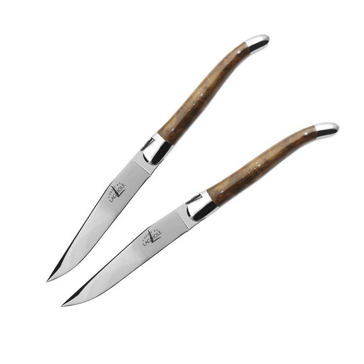 LAGUIOLE - 2er-Set Steakmesser Thuja