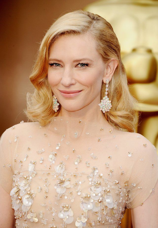 Close up of Cate Blanchett and those amazing earrings!