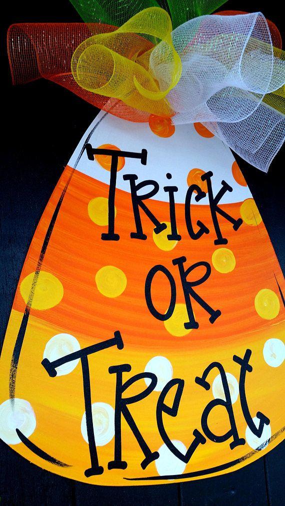 Halloween Decor Candy Corn Decor Halloween Door Hanger