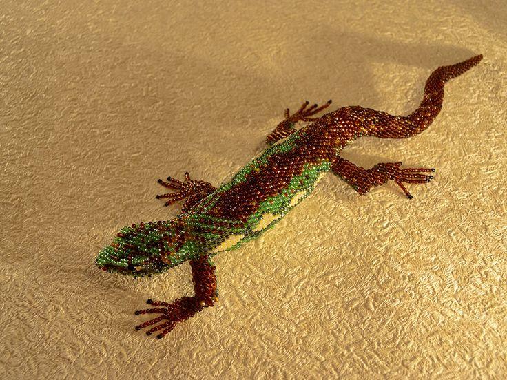 Ящерица | biser.info - всё о бисере и бисерном творчестве