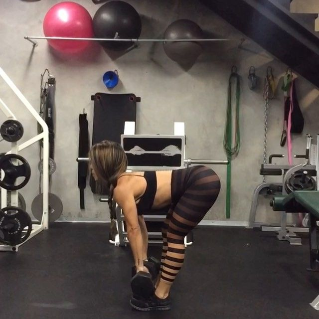 Add this Lateral Lunge/RDL/Snatch to press to your next workout routine. This is great way to work your quadriceps, gluteus, hamstrings and shoulders all in one shot. Pick up a challenging weight that you can still manage to press while keeping proper form.