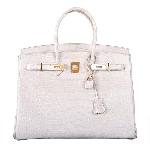 pink hermes bag price - Pre-owned Hermes Birkin Bag 35cm Beton Matte Crocodile With Gold ...