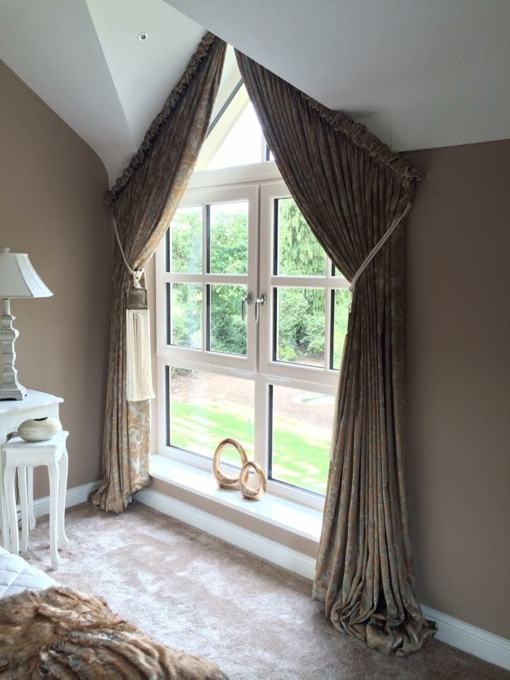 Apex window with fixed puffball heading by Simply Soft Furnishings by Julie Hughes.