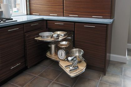 Starmark Cabinetry Blind Corner With Swing Out Shelf