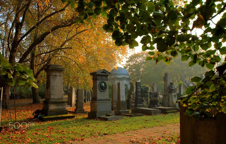 cemetery landscape - Cemetery landscape / Temetői tájkép