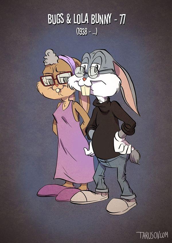 Cartoon Charaktere aus unserer Kindheit heute   von Andrew Tarusov