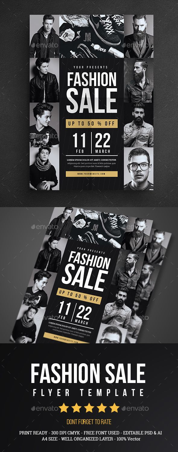 Fashion Sale Flyer Template PSD. Download here: https://graphicriver.net/item/fashion-sale-flyer/17071640?ref=ksioks