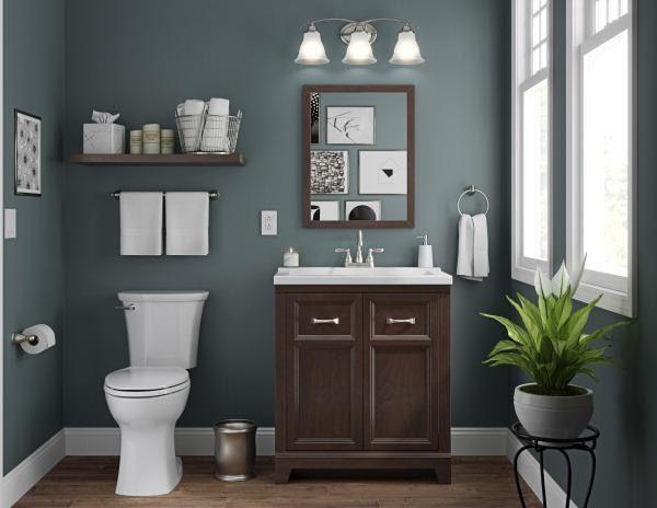Valspar Academy Grey Paint   Floating bathroom vanities