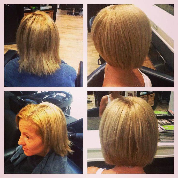 Chemically stressed out overly gold hair to buttery healthy blonde bob - with Organic Colour Systems