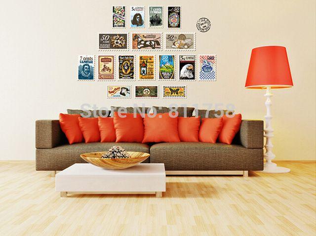 Gratis verzending fashion verwijderbare 3d fotolijst muurstickers home decor woonkamer wall art