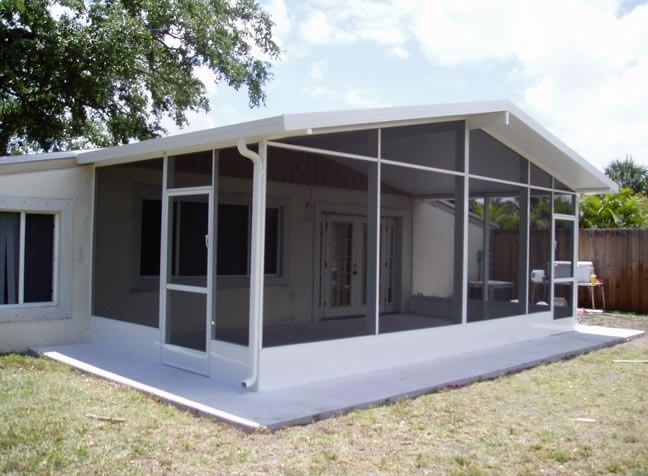 Florida screen rooms images bing images mobile homes for Prefab screened porches