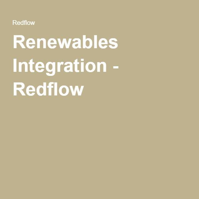 Renewables Integration - Redflow