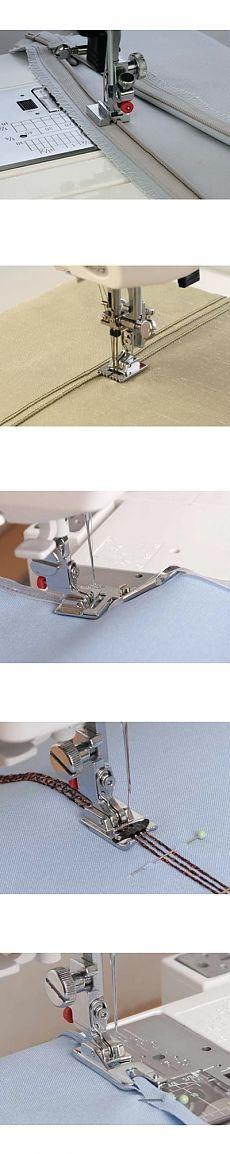 Как пользоваться дополнительными лапками для швейных машин JANOM.