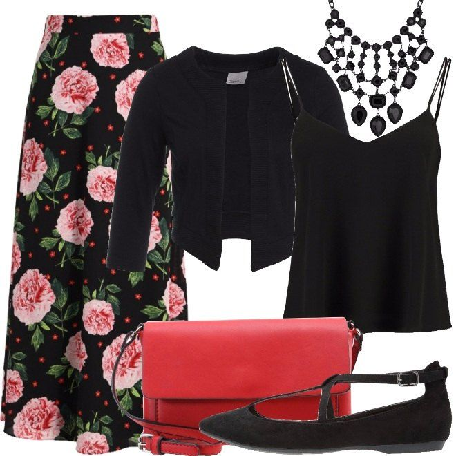 Outfit La gonna lunga a fiori