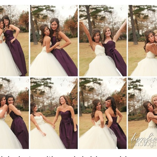 Picture ideas, one with each bridesmaid