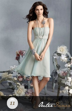 A-line Two Tone Strapless Bridesmaid Dress Style Code: 02585: Knee Length, Wedding Ideas, Color, Wedding Stuff, Wedding Dress, Prom Dress, Chiffon Bridesmaid Dresses