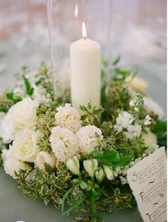 Candles + Flowers