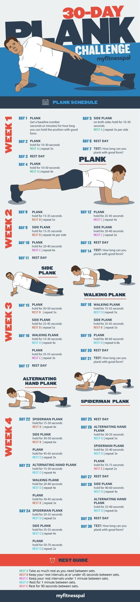 Want stronger arms, back, legs and butt this month? Take our 30-Day Plank Challe…