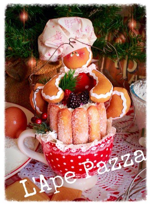 Cartamodelli ginger Natale 2015 : Cartamodello ginger mamy sulla tazzina