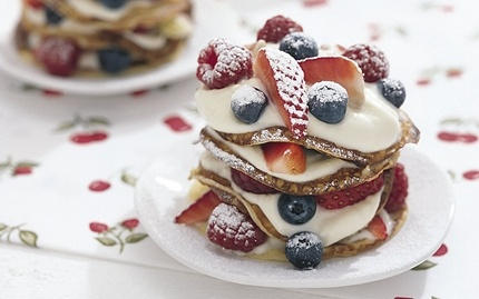 "Little pancake ""towers"""