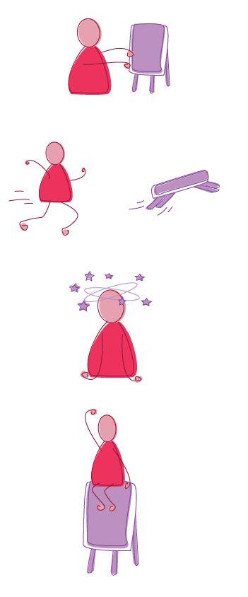 Red stickman