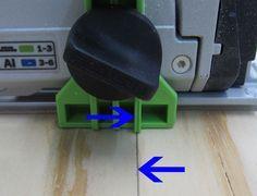 Festool TS55 genaue Ausschnitte - Markierung Splitterschutz