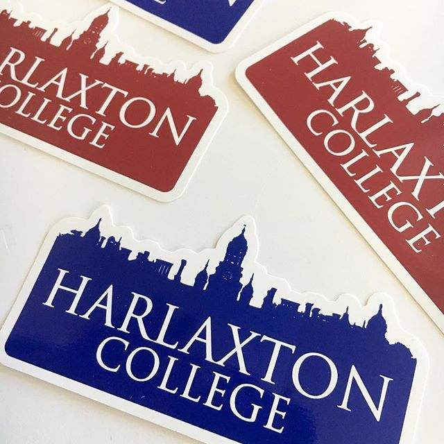 Check out these awesome diecut stickers we made for harlaxton college
