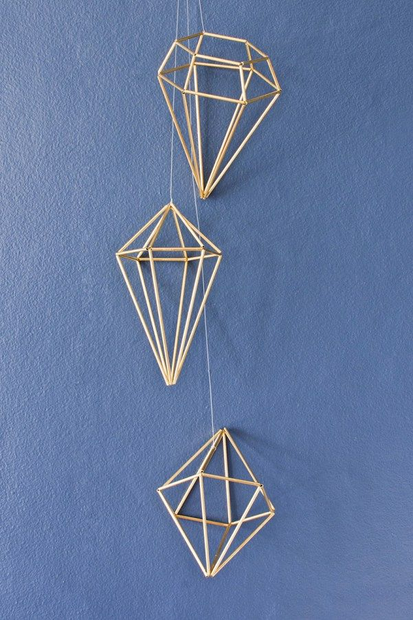 DIY himmeli diamond tutorial - 3 shapes!