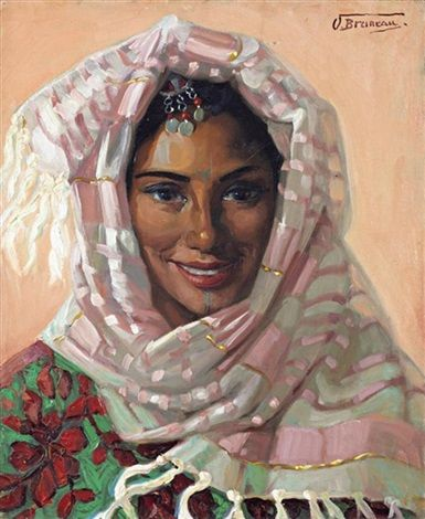 Portrait de marocaine by Odette Bruneau