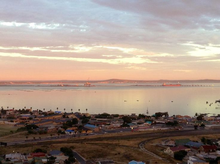 The golden hour at Saldanha - view from the hill overlooking Langebaan lagoon. West Coast. South Africa.