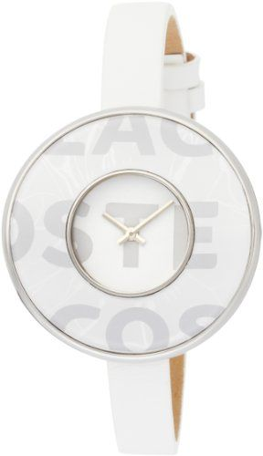 Lacoste Club Collection Figari Leather Strap White Dial Womens watch 2000541 *** Check this out by going to the link at the image.