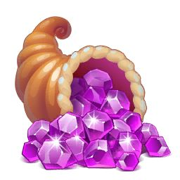 Treasure consists of the currency found in Dragons World: Gold, Food, and Crystals. They can be purchased in the in game store for real world currency under the Treasures section. The amount of gold you get when purchasing is actually determined by your level. So a higher level will get more gold for the same price.