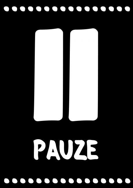 Poster 'PAUZE'