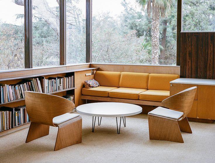 Retro lounge furniture.