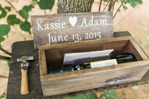 Rustic Chic Wedding Wine Box Ceremony by DownInTheBoondocks
