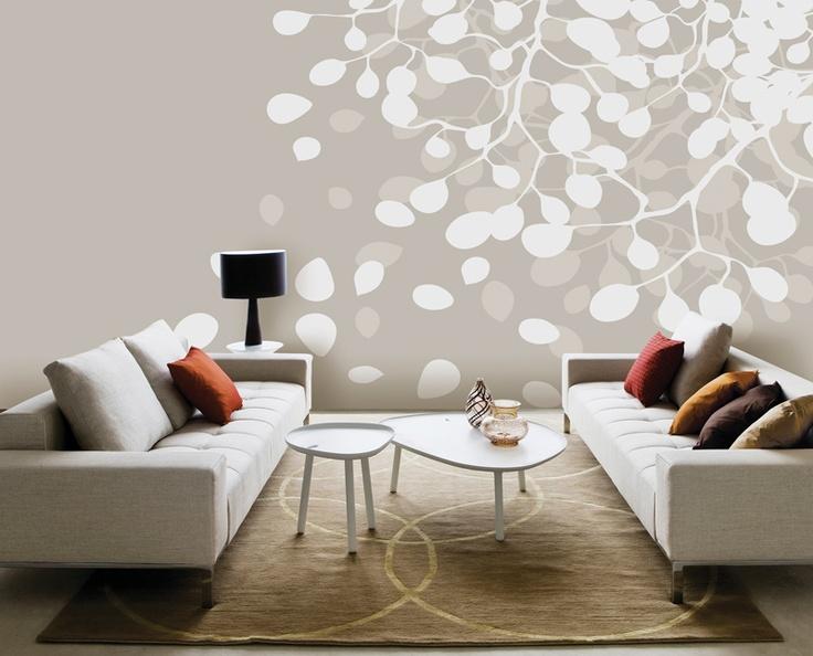 Birch - Snow - Wall mural, Wallpaper, Photowall, Home decor, Fototapet, Valokuvatapetit