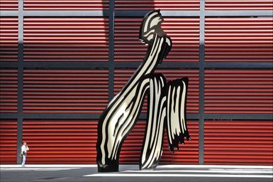 Spain's finest modern art museum is in Madrid: Outside the Reina Sofia art museum in Madrid
