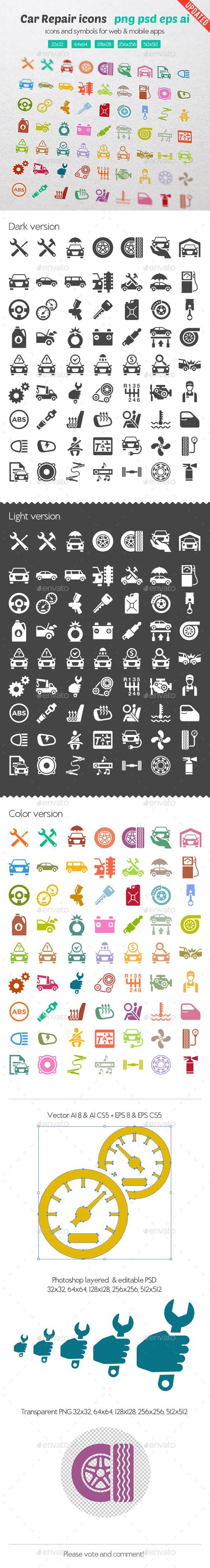 Icônes de réparation de voitures - Icônes