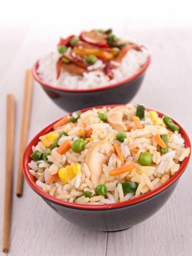 Riz cantonais au poulet : Recette de Riz cantonais au poulet - Marmiton