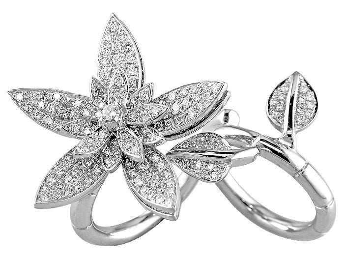 18K white gold 3.29 carat diamond