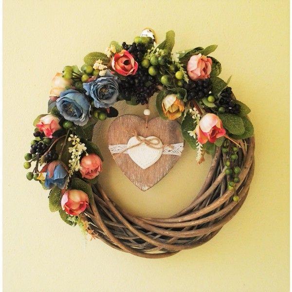 veniec s ružami romantický 30 cm