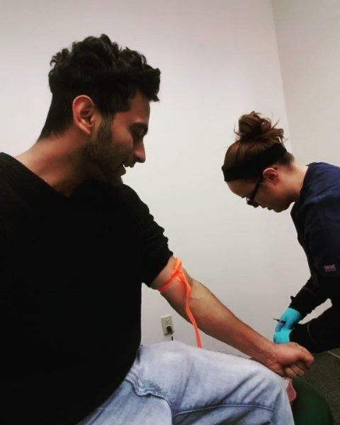 The phlebotomist that's not from hell lol - Getting poked by a needle after a while..best phlebotomist in the world lol #bloodwork #phlebotomy #phlebotomist #nice #awesome #painless #nurse #hospital #doctor