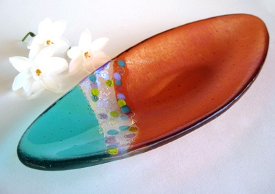 Fused glass Easter