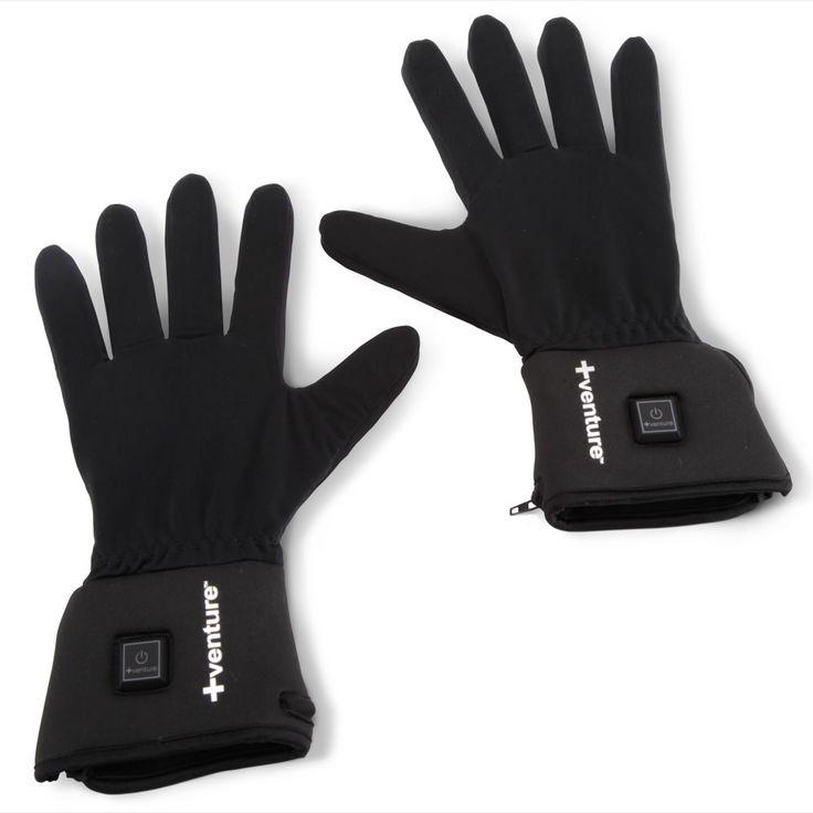 The Heated Glove Liners - Hammacher Schlemmer #HammacherHolidays