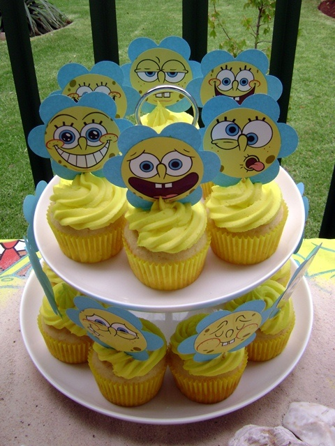 Spongebob Squarepants Cupcake Tower