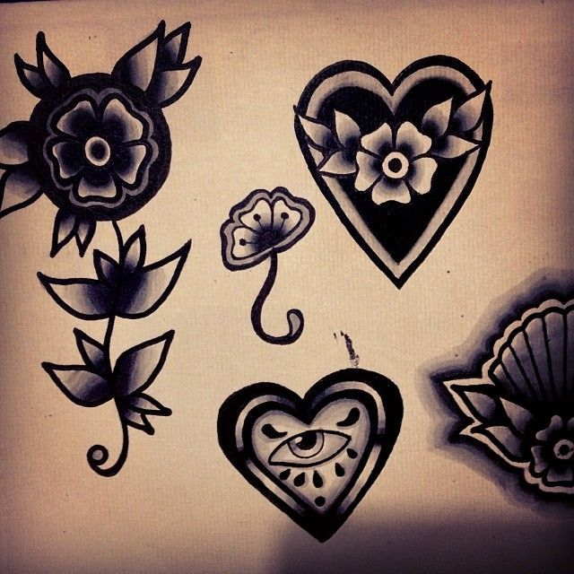 traditional black heart tattoo - Google-søgning