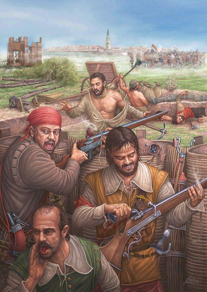 Asedio de Breda (1624-1625) por cortesía de Ángel García Pinto. Más en www.elgrancapitan.org/foro