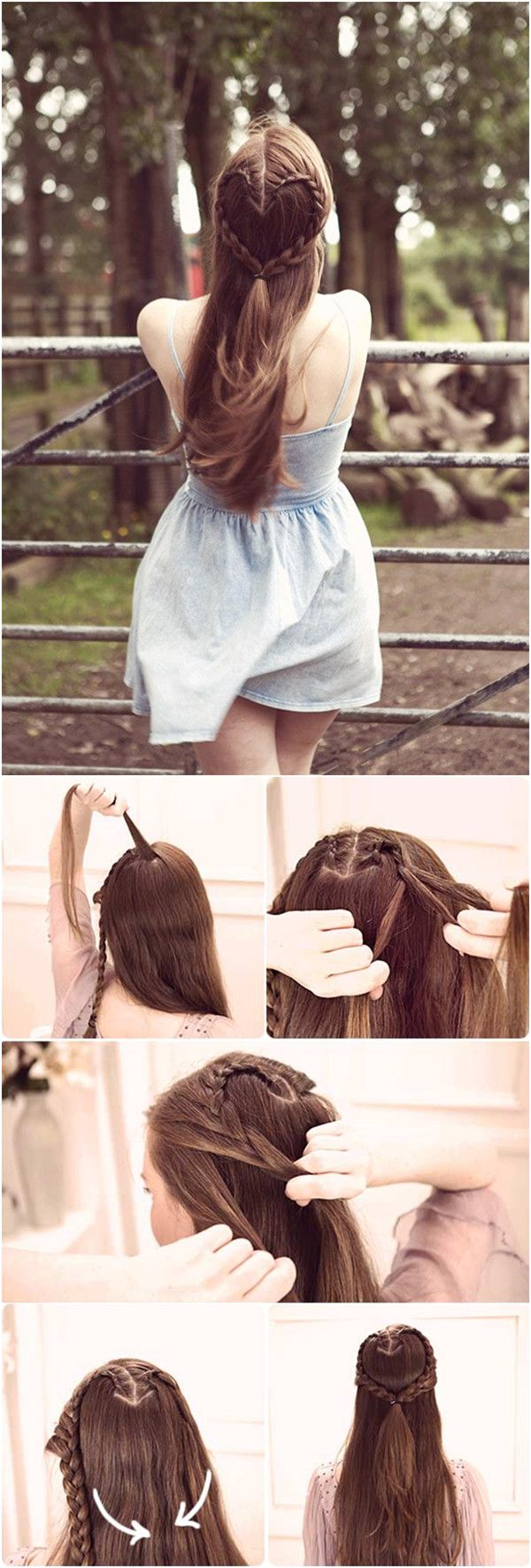 Hair Tutorial - How to do a cute heart braid hair style
