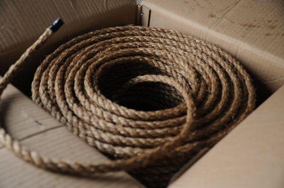 Nautical DIY Crafts - Manila Rope - Nautical Decor - Nautical DIY Weddings - (this is per 15 feet) - (1/2 inch manila rope)