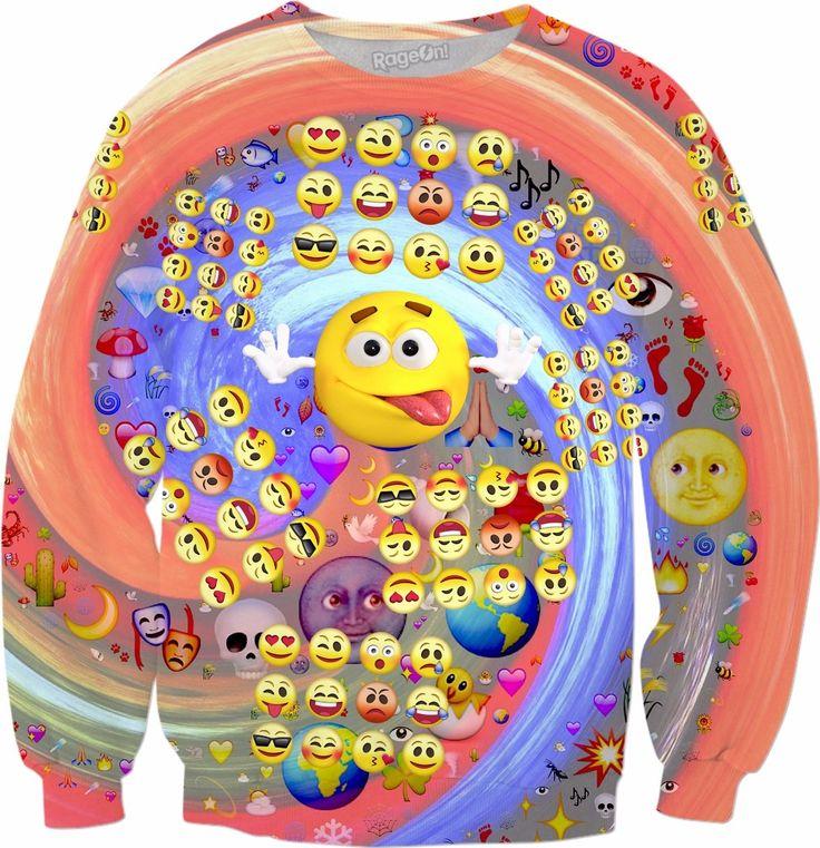 Emoji Emoticons Sweatshirt! #rageon #erikakaisersot #sweatshirts #emoticon